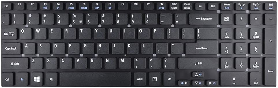 Eathtek Replacement Keyboard Without Frame for Acer Aspire V3 V3-551 V3-551G V3-571 V3-571G V3-731 V3-731G V3-772 V3-772G V3-771 V3-771G 5755 5755G 5830 5830G 5830T 5830TG Series Black US Layout