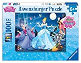 Ravensburger Disney Princess Adorable Cinderella 100 Piece Glitter Jigsaw Puzzle for Kids – Every Piece is Unique, Pieces Fit Together Perfectly
