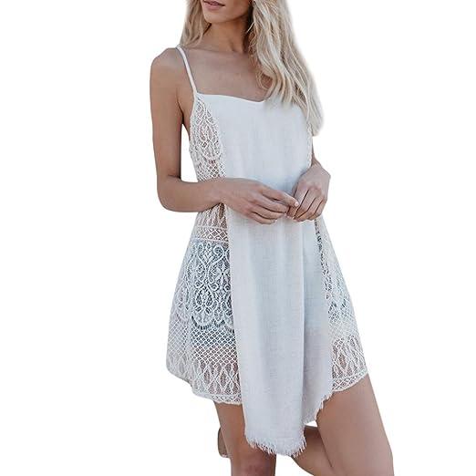 c8896b3c94197 Hunzed Women Dress, Fashion { Sleeveless Dress } Casual { Lace Sling Dress  } Lady