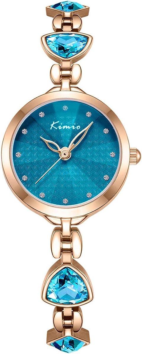 Alienwork Kimio Reloj Mujer Pequeña Correa de Metal
