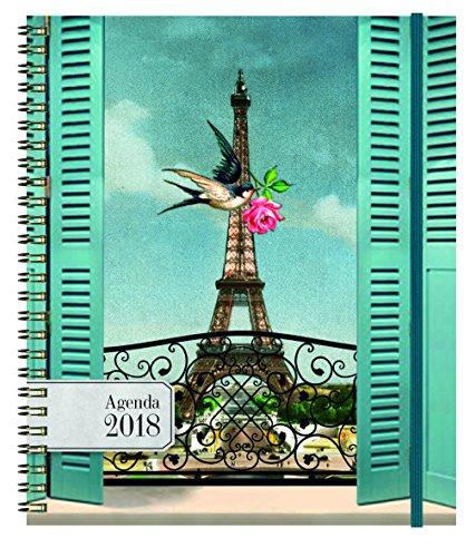 Exacompta 226745e Cakes of Bertrand Eurotime 22W Office Diary Spiral Swallow Jan to Dec-Year 2018