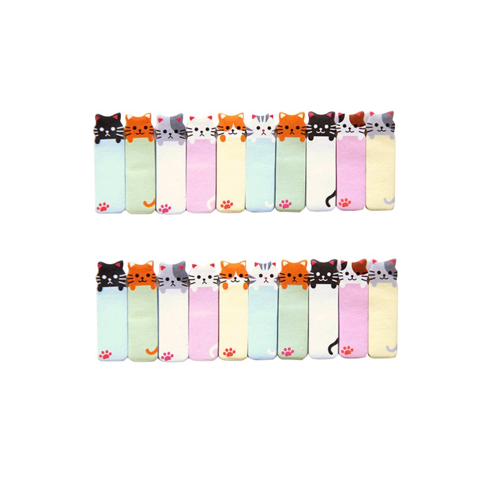 Segnapagina adesivi, NUOLUX Segnapagina di carta a forma di gattino (2pcs)