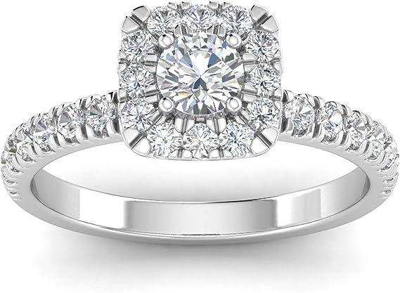 IGI Certified 1 Carat TW Natural Diamond Engagement Ring in 10k White Gold (H-I Color