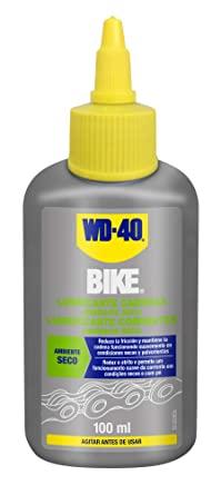 WD-40 BIKE- Lubricante de Cadenas de Bicicleta para Ambiente Seco