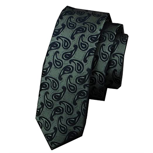 Y-WEIFENG Corbata de Seda Corbata de Negocios de los Hombres ...