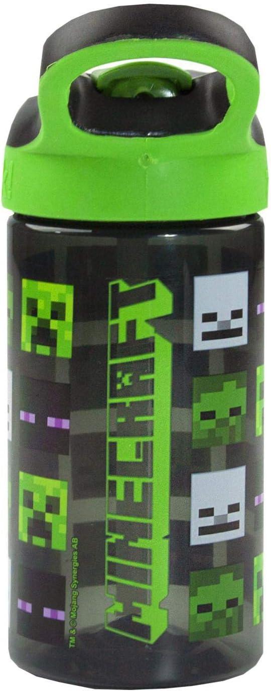 Bpa Gratuit Eau//boissons bouteille-Minecraft-Creeper Face-Plastique