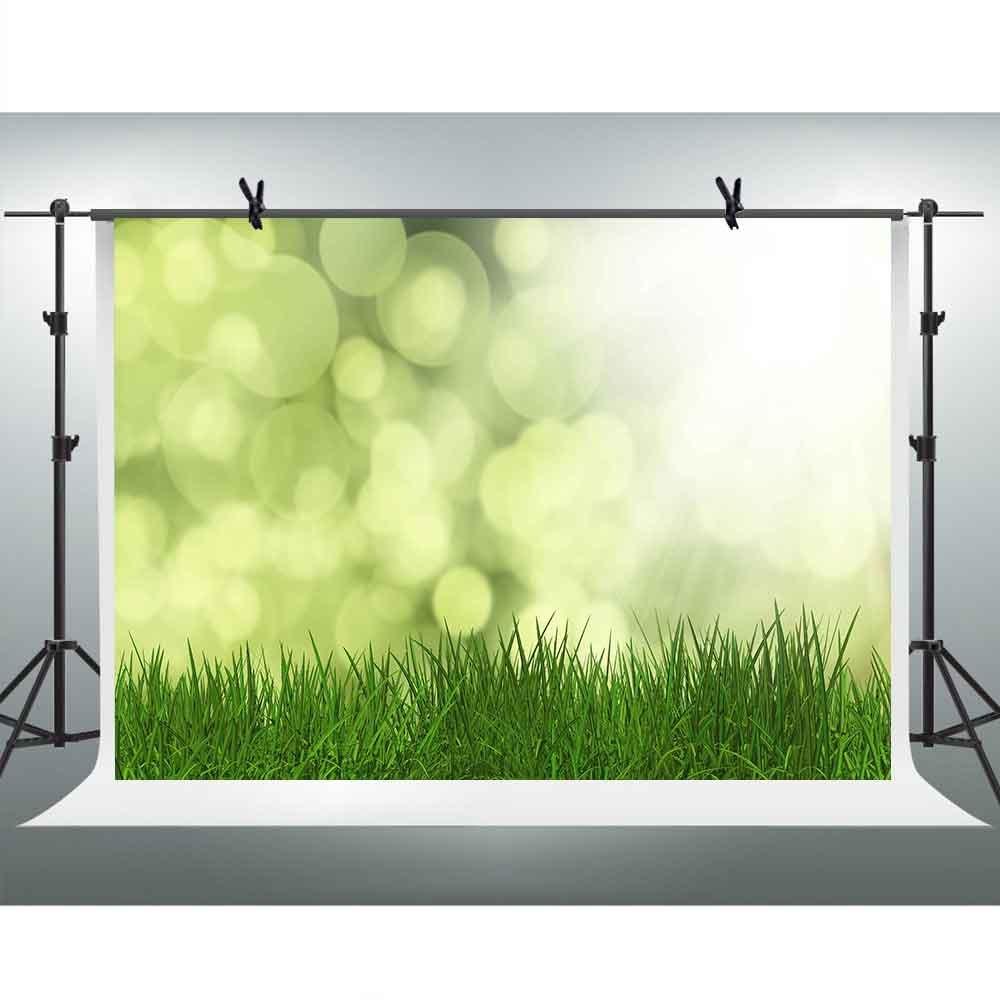 10 x 7ft Green Grass背景for Photography FHzON Shining Glittering Spots Sunshine Bokeh Backdrop子ベビーnewwborn誕生日テーマパーティーYoutube Backdrops Studio Props Mural lxfh227   B07FVHP8CH