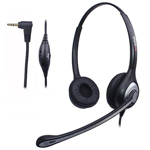 3 opinioni per Cuffie 2,5 mm Dual con Microfono a Cancellazione del Rumore e Controllo del