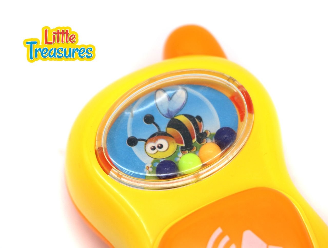 Little Treasures Creative Joyous Bee Rattle Toy with Push Button Animal Sounds