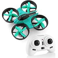 HELIFAR F36 Mini 2.4 G 4 CH 6 Ejes Gyro sin Cabeza Control Remoto RC Quadcopter Drone RTF para niños, Principiantes, Azul