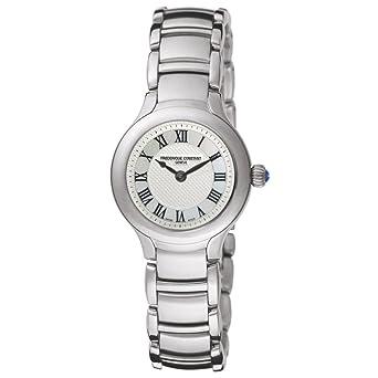 Frederique Constant FC-200M1ER6B 26mm Silver Steel Bracelet & Case Anti-Reflective Sapphire Womens