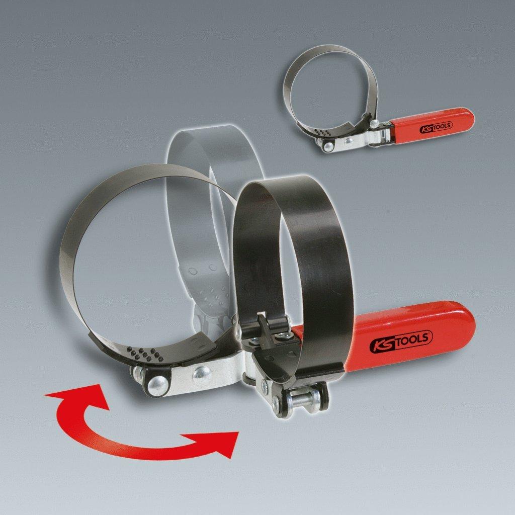 stufenlos KS Tools 150.9378 /Ölfilterbandschl/üssel /Ø 73-85mm