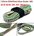Yosoo Green Grey Bore Snake Kit Rope for 308 30-30 30-06 300 303cal 30cal 7.62mm Gun Tube Rifle Pistol Cleaning