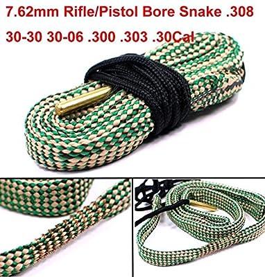 Yosoo Green Grey Bore Snake Kit Rope for 308 30-30 30-06 300 303cal 30cal 7.62mm Gun Tube Rifle Pistol Cleaning