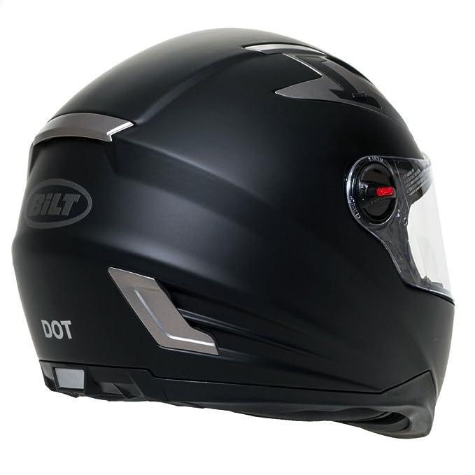 23de1ebc Amazon.com: BILT Techno Bluetooth Full-Face Motorcycle Helmet - XL, Matte  Black: Automotive