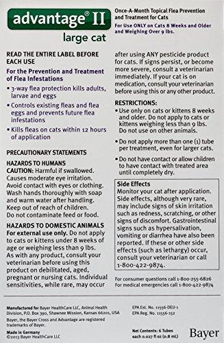 Advantage II Large Cat, Purple, over 9 lb, 6ct - Purple Cat Flea Treatment