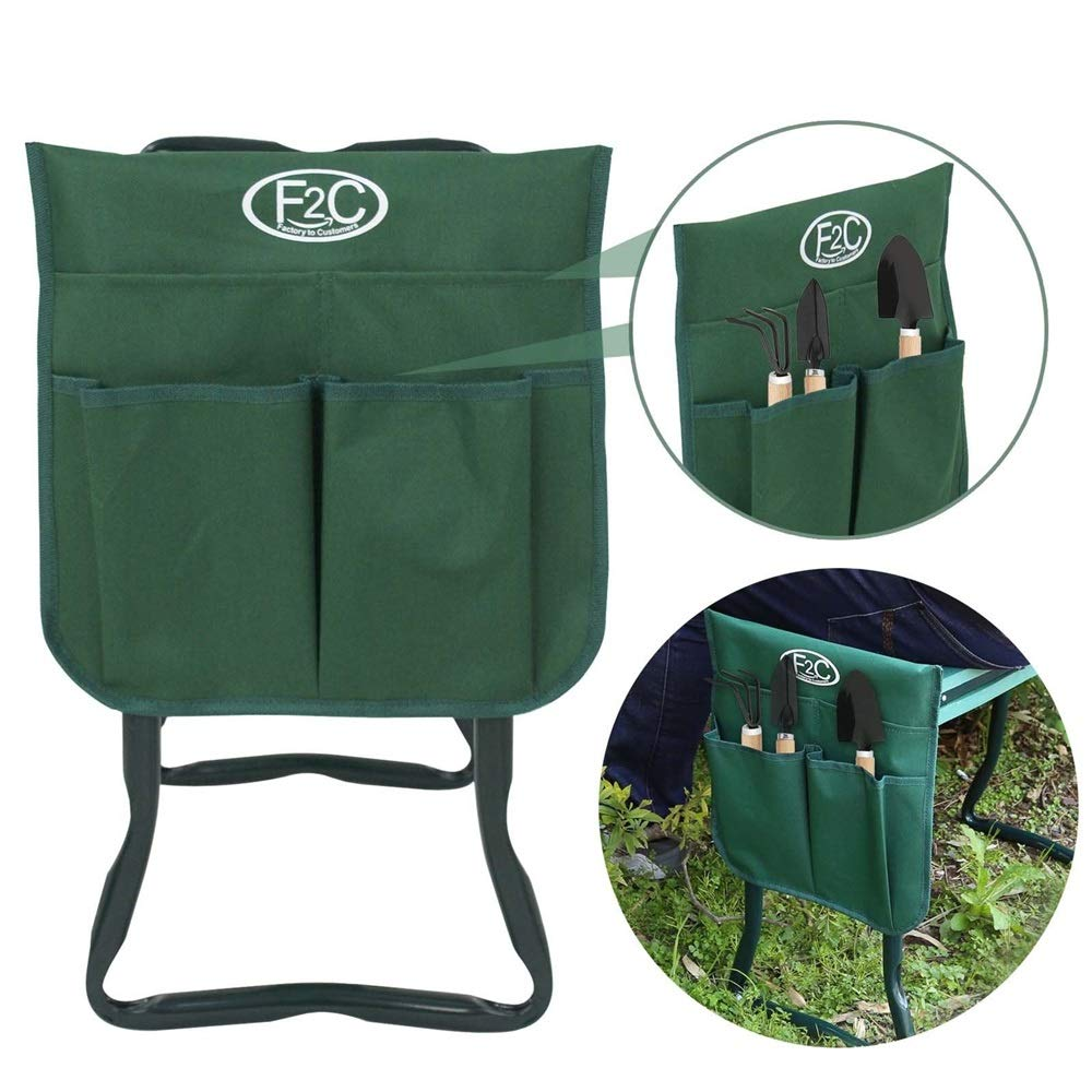 Good Concept Garden Kneeler Seat Bench Stool Foldable Soft Cushion w Tool Pouch by Good Concept (Image #4)