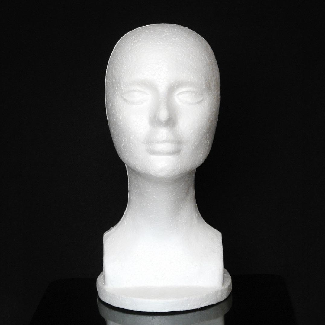 Rcool Barato Espuma de espuma de poliestireno Maniquí de espuma modelo de cabeza maniquí peluca gafas Hat Display Stand (mujer (31cm X 50cm)): Amazon.es: ...