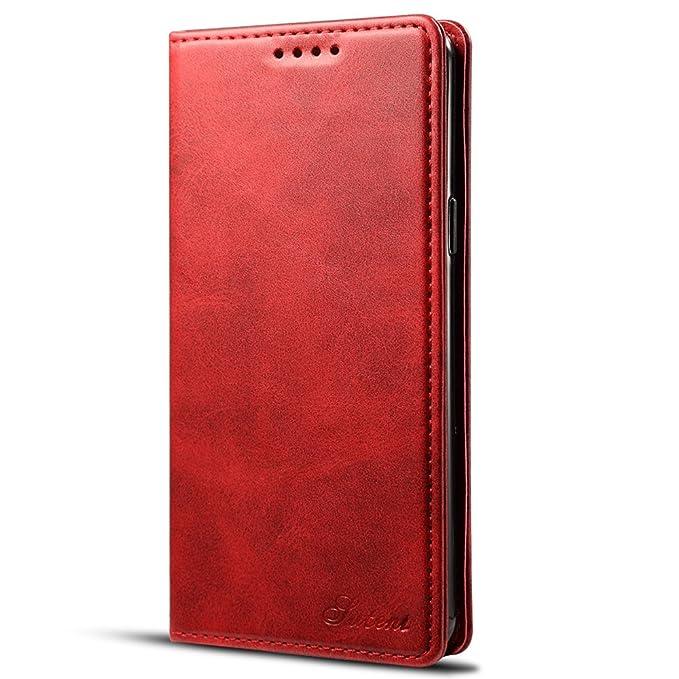Samsung Galaxy Note 9 Funda Cartera cuero con ranura para tarjetas, cubierta protectora con función