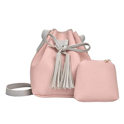 18b483db8b62 Image Unavailable. Image not available for. Color  Sunward 2019 Casual Faux  Leather Shoulder Bag Mini Backpack School Bag for Women (Pink)