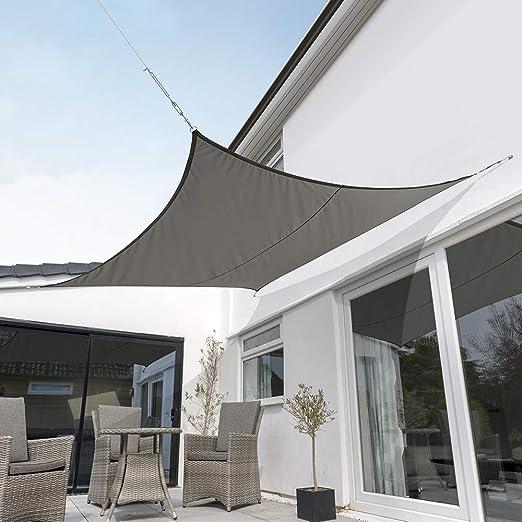 2m Square Kookaburra Waterproof Garden Sun Shade Sail Canopy in Ivory 98/% UV Block