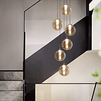 Elegante Hänge Leuchte Kristall Kugel Restaurant Decken