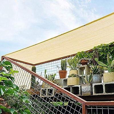 ZXL Sun Shade Cloth con Ojales Sun-Block Mesh Shade para Pergola Garden Outdoor Cover Canopy Personalizable (Color: A, Tamaño: 5x5m): Amazon.es: Jardín
