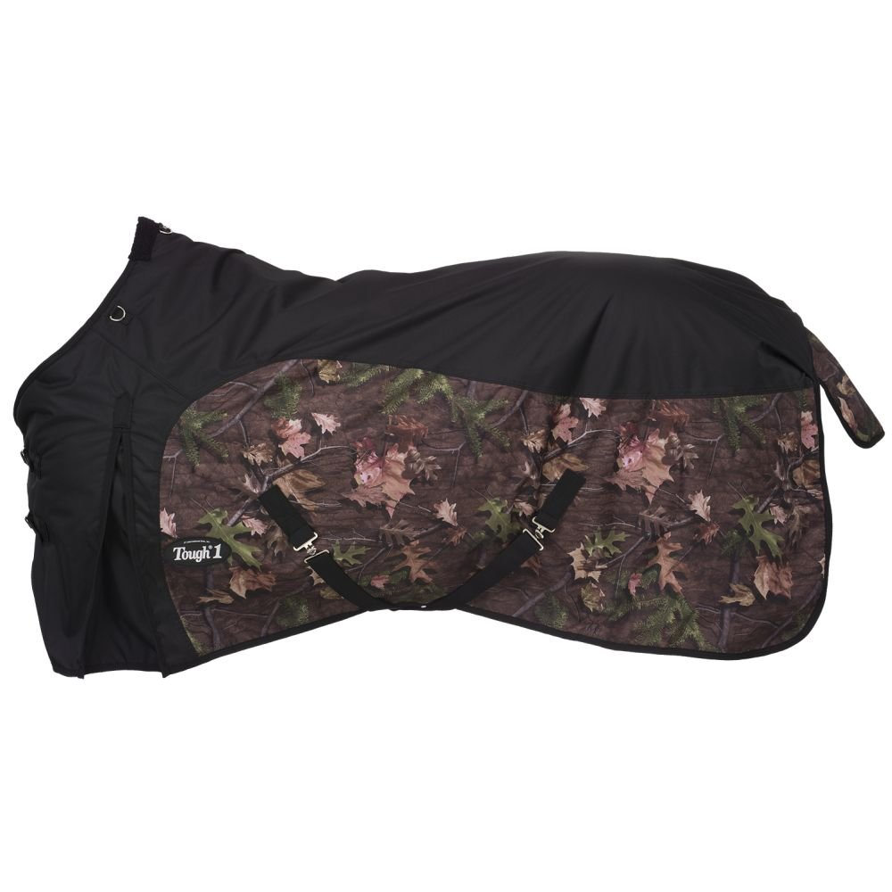 Tough 1 Black Timber 600D Waterproof Camouflage Poly Horse Turnout Blanket Tough-1