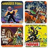 Classic Sci Fi Movie Poster Coasters Set Of 4. Cork. Vintage Film by Funkyzilla