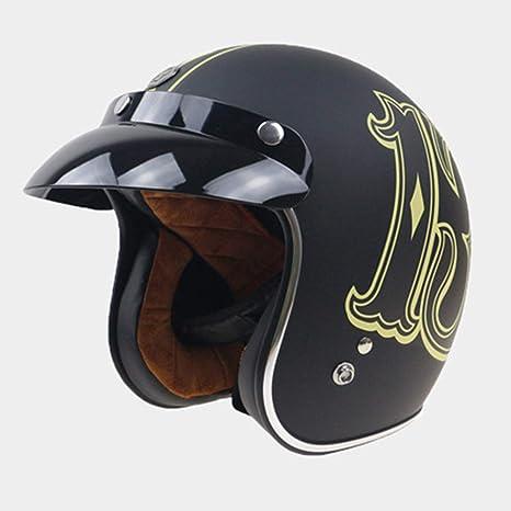 Shfmx Casco de Motocicleta Harley, Casco de Motocross Adulto ...