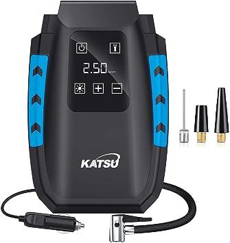 KATSU Compresor de Aire Portátil Digital Hinchador Inflador ...