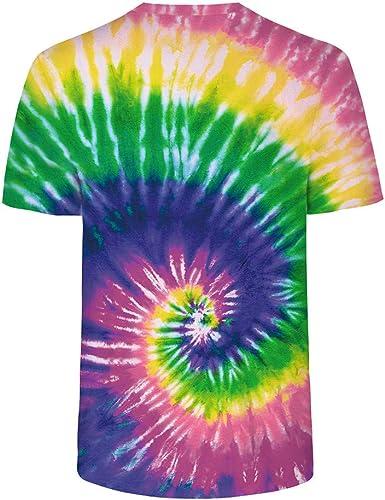 Sylar Camisetas de Manga Corta para Hombres Moda Tie Dye ...