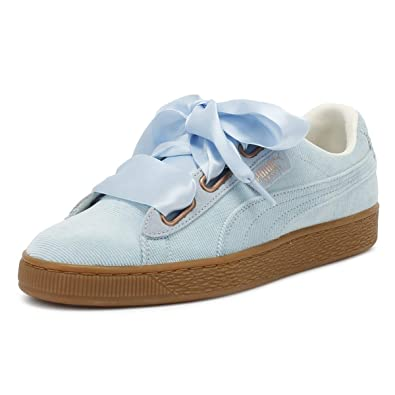 the best attitude c8aa7 be678 Amazon.com | PUMA Womens Cerulean Blue Corduroy Basket Heart ...