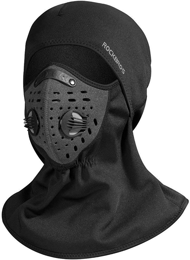 ROCKBROS Ski Mask Balaclava Fleece Cycling Thermal Windproof Face Mask Black