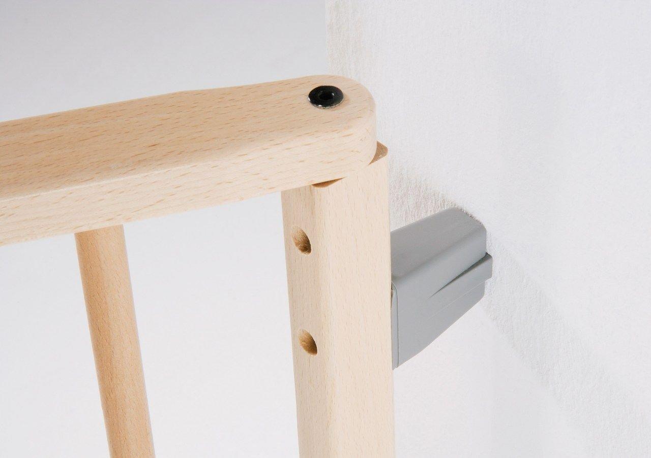 Geuther T/ürelement erweiterbar 120-180 cm Verl/ängerung Kaminschutzgitter // Konfigurationsgitter 2761 Holz Winkelelement mit Fu/ß