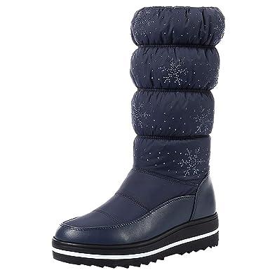 59af43f3622 Amazon.com   Aarring boot Women Boots Waterproof Winter Shoes Women ...