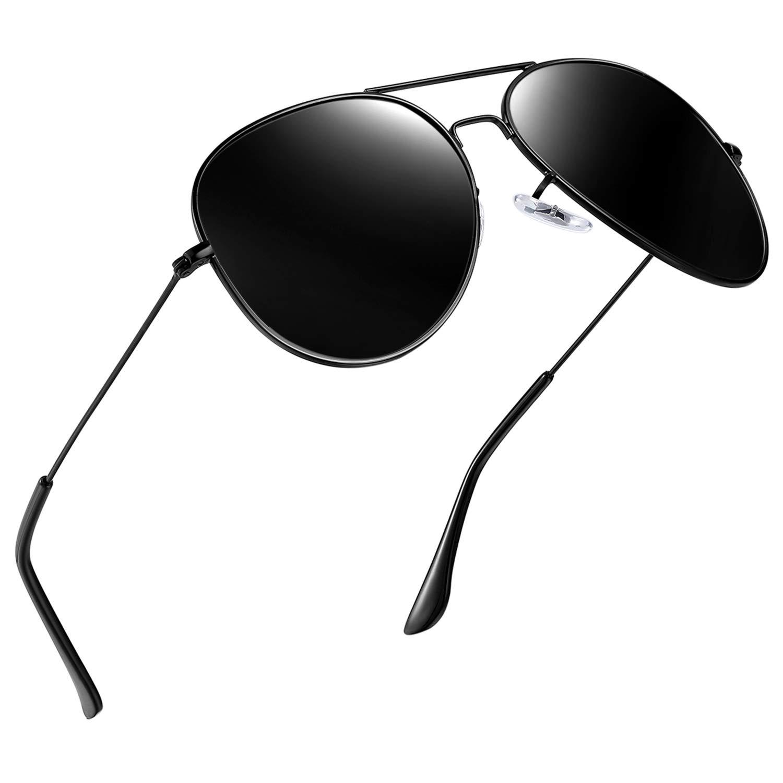 Joopin Classic Polarized Sunglasses for Men - Metal Frame Fashion Womens Sunglasses E3026 (Large Black) by Joopin