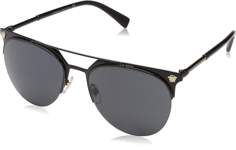 Versace 0VE2181 Gafas de sol, Black, 57 para Hombre: Amazon ...