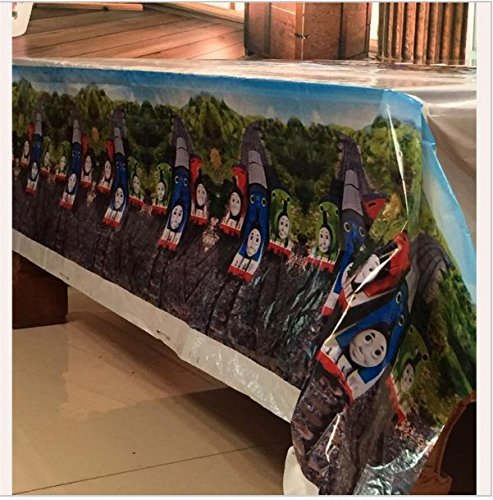 A 180x108cm Disposable PVC Table Cover Tablecloth Kids Party Thomas The Tank Engine