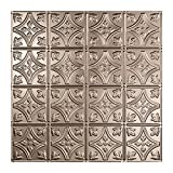 Fasade Easy Installation Traditional 1 Brushed Nickel Lay In Ceiling Tile / Ceiling Panel (2' x 2' Tile)