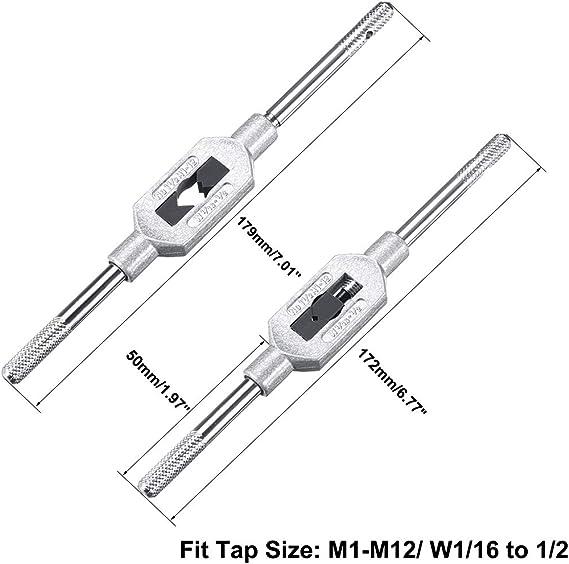 sourcing map Cl/é /à poign/ée M1-M8 Barre R/églable Porte-robinets Cl/é /à tarauder droite