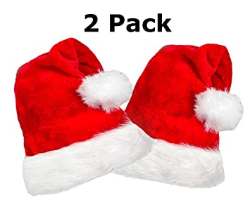 0d736478aa420 Image Unavailable. Image not available for. Color  2 Pack Plush Santa Hat