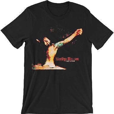 a1825ccc3014 Amazon.com: Marilyn Manson Men's Holywood Slim Fit T-Shirt Black ...
