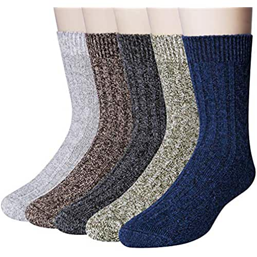 AIvada 80/% Merino Wool Hiking Socks Thermal Warm Crew Winter Sock for Men /& Women 3 Pairs