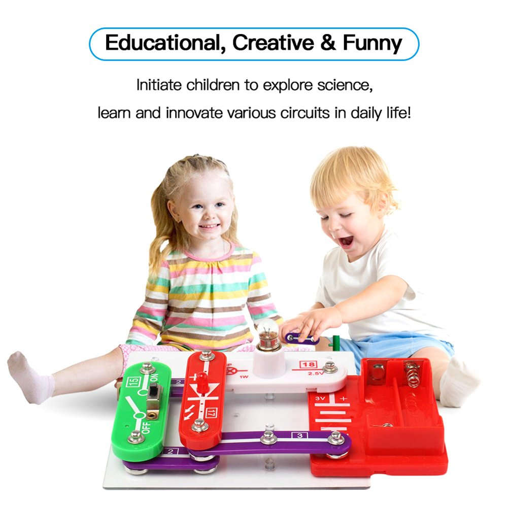 4uheart Science Learning Toy Kits For Kids Diy Snap Circuits Jr Educational Electronic Discovery Kit Building Block Experiment