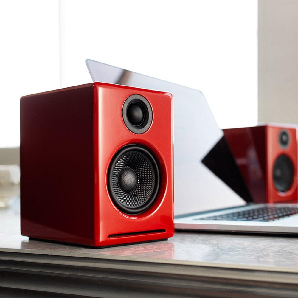 e45bae1a1c6 Amazon.com  Audioengine A2+ Powered Desktop Speakers (Red)  Computers    Accessories