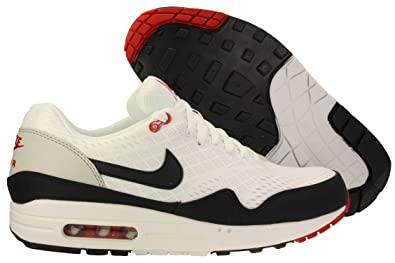 Nike Air Max 1 Em Mens White Dark Obsidian University Red Dark Obsidian f85fb21a07