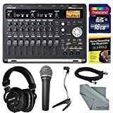 Tascam DP-03SD 8-Track Digital Recorder Bundle with Home Recording for Musicians Guide + Handheld Mic + 16 GB FiberTique Cloth and More