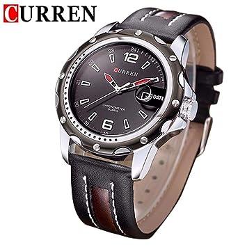 Sunneey Curren 8104 – Reloj de Pulsera analógico para Hombre, Hombres Cuarzo Hacha äufige Reloj