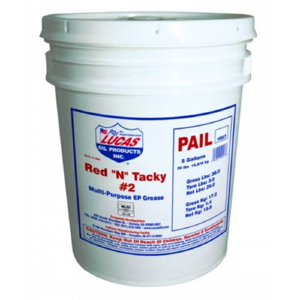 Lucas Oil 10027-PK1 Red 'N' Tacky Grease 35 lb